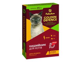 Ошейник от блох и клещей для кошек Golden Defence 35 см