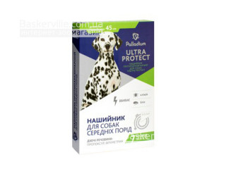 Palladium. Ultra Protect. Ошейник от блох и клещей для собак средних пород, 45 см