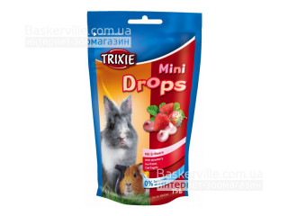 Trixie Mini Drops Витамины для грызунов Клубника, 75г