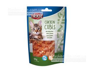 Trixie. Лакомство для кошек Premio Chiken Cubes, 50г