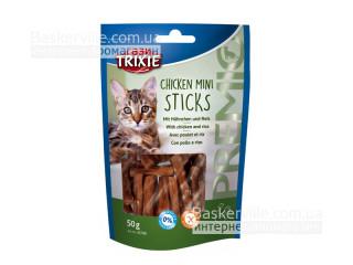 """Trixie. 42708 Лакомство для кошек """"PREMIO Mini Sticks"""" курица с рисом, 50г"""