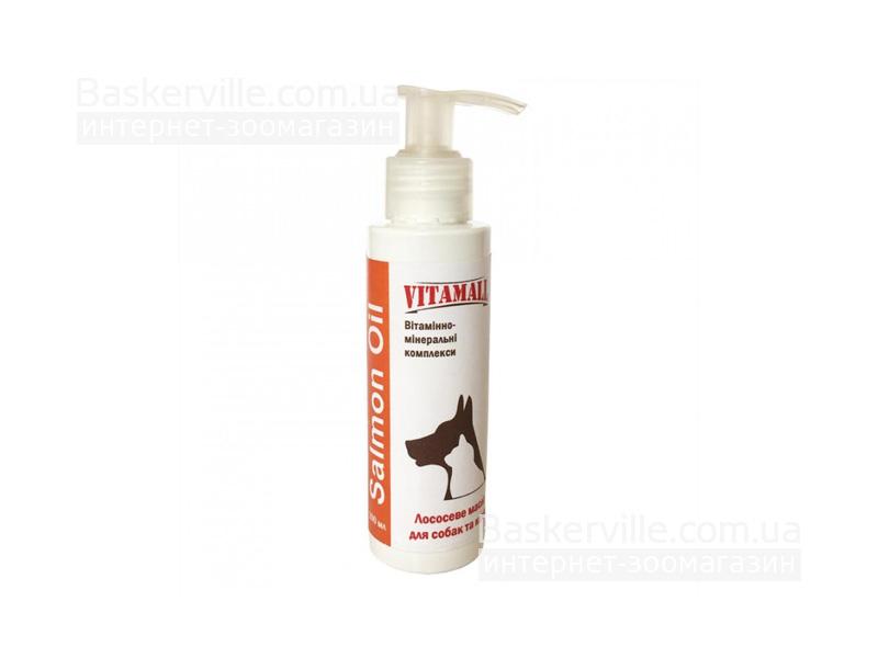 Vitamall. Масло лосося для собак и котов, 100мл