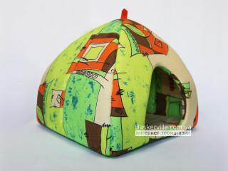 Мягкий домик для собак и котов (яркая ткань)
