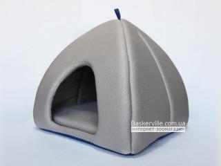 Мягкий домик для собак и котов (синее дно)