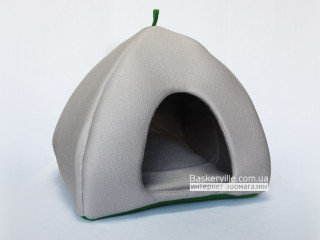 Мягкий домик для собак и котов (зеленое дно)