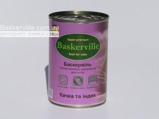Консервированный корм для кошек. Baskerville. Утка с индейкой