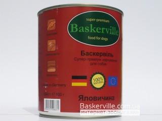 Консервированный корм для собак. Baskerville. Говядина