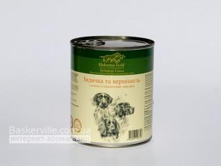 Консервированный корм для собак. Hubertus Gold. Индейка с лапшой
