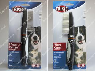 Расческа с пластиковой ручкой (густые зубцы) для собак и котов