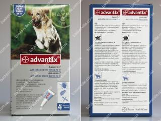 Advantix для собак весом больше 25 кг