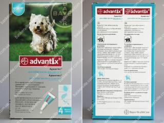 Advantix для собак весом от 4 до 10 кг