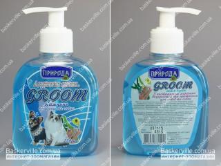 Groom шампунь с экстрактом морских водорослей и протеином для котов и собак